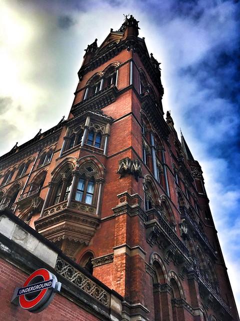 London  England ~ St. Pancras Renaissance London Hotel ~ Clock Tower