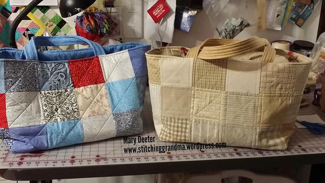 Pair of chubby charmer bags