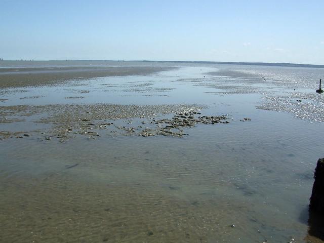 Muddy beach at Leysdown-on-Sea