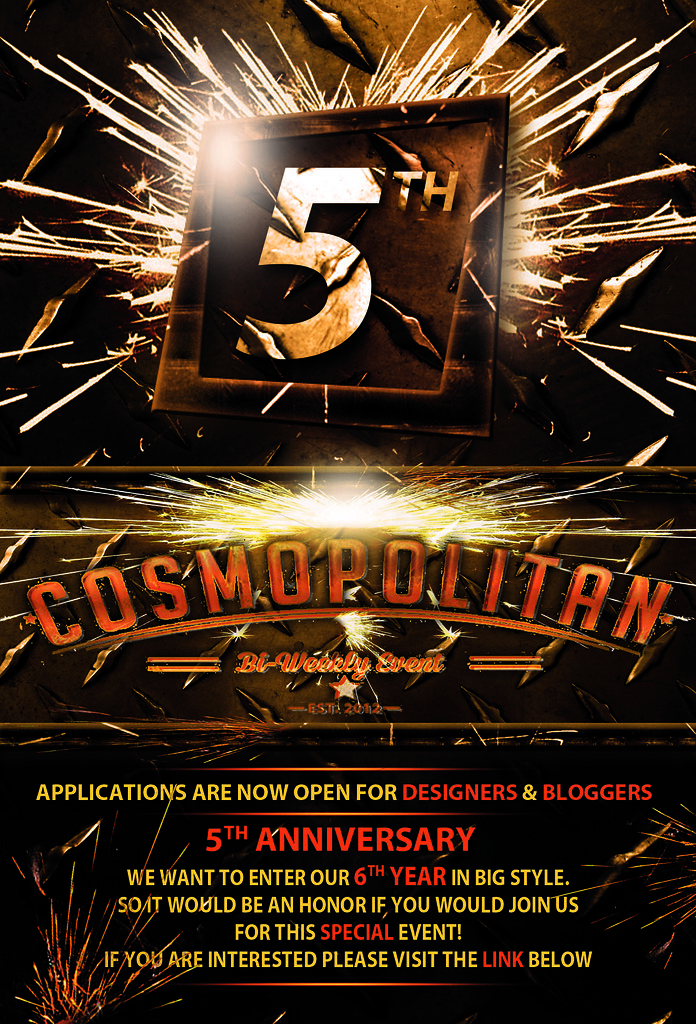 Cosmopolitan 5th Anniversary Designers & Bloggers Invite