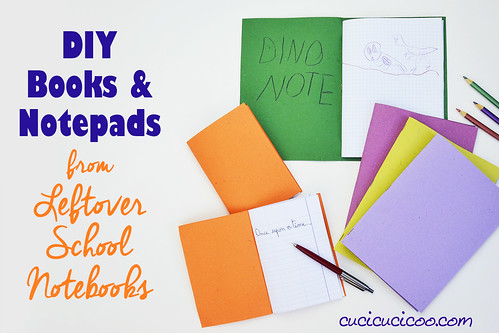 DIY books and notepads: Reuse leftover notebook paper | by cucicucicoo