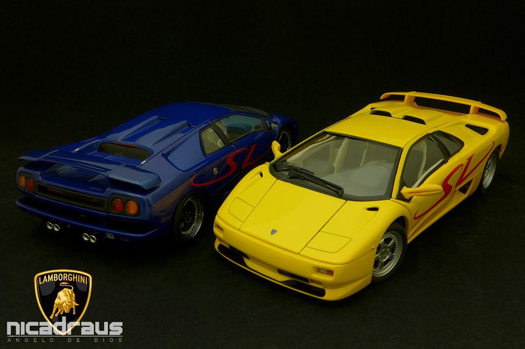 1 18 Lamborghini Diablo Sv Blue Autoart Yellow Welly Flickr