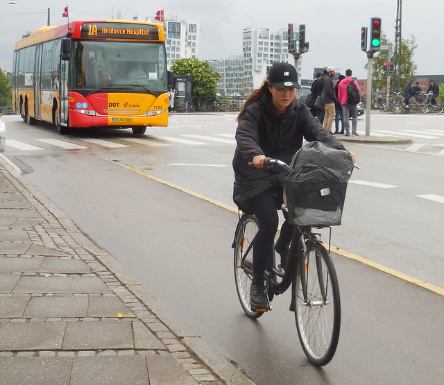 She can ride her bike with her eyes closed LOL Copenhagen girl on bike #24