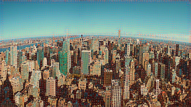 Panoramic View of Uptown in New York City, USA [2015]