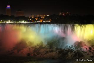 Niagara Falls at Night, New York (USA)