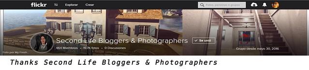 Thanks Second Lif Bloggers & Photographers
