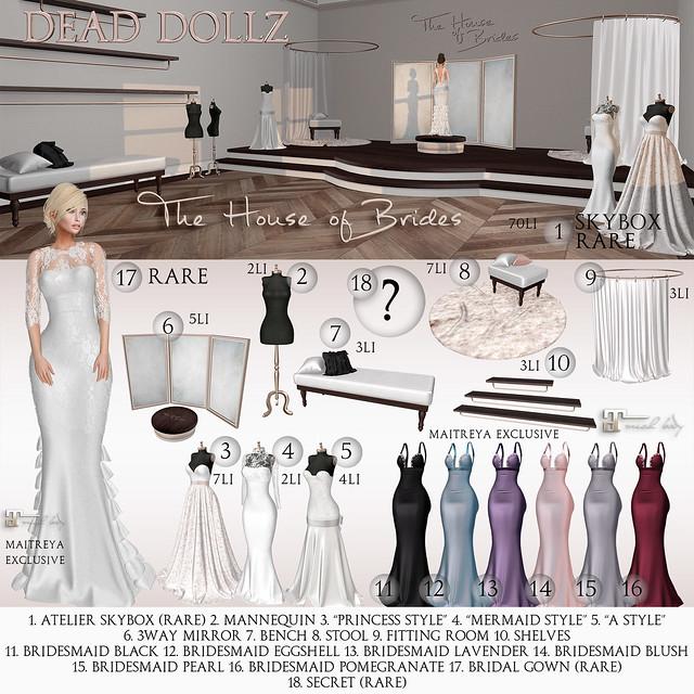 Dead Dollz - The House of Brides Gacha Key
