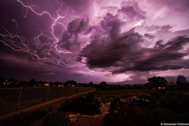 Monsoon Lightning, Cornville, Arizona