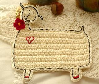 sheep coaster - bride