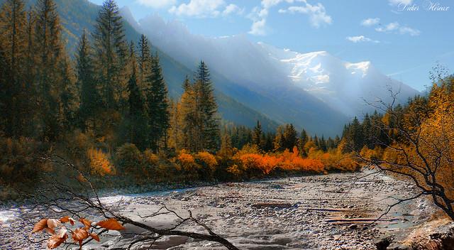 Marée basse en vallée de Chamonix-Mont-Blanc