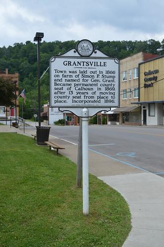 grantsville wv westvirginia calhoun county historical marker