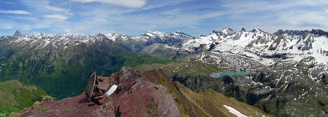 Panorama du Gabedaille - Vallée d'Aspe - Pyrénées - France - Espagne
