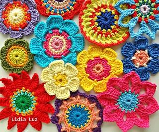 Beleza, flores de crochê