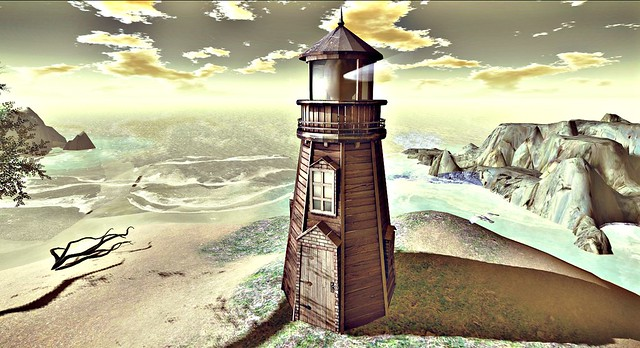 Old Wooden Lighthouse