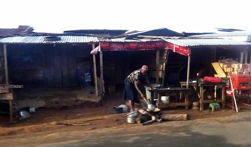 womanfryingyamsbytheroadside akure ondostate nigeria jujufilms cooking