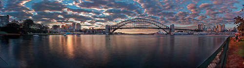 sydney clouds sunrise panorama
