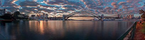 sydney clouds sunrise panorama