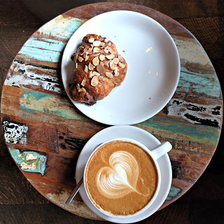 Coffee and a croissant at Storyville Coffee | by Ruth and Dave
