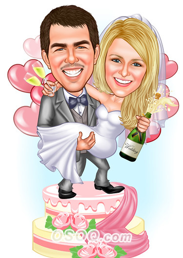 Wedding Cake Toppers Caricature Www Osoq Com Jane D Flickr