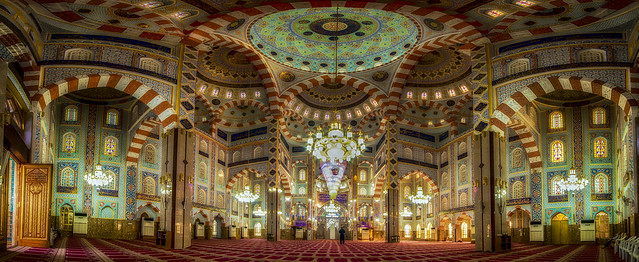 The point of view inside the mosque