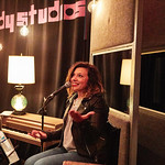 Tue, 09/05/2017 - 6:58pm - Maggie Rogers delights a room of WFUV members at Electric Lady Studios in New York City, 5/9/17. Hosted by Carmel Holt. Photo by Gus Philippas