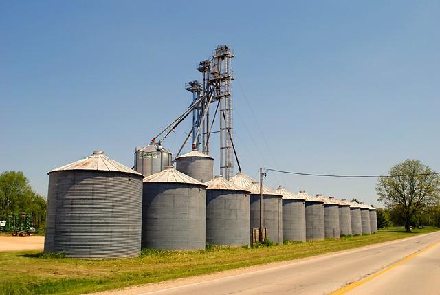 Grain Elevators, Poplar Grove Illinois