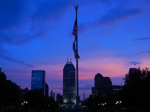 sunset flag skyline indianapolis indiana 2017 silhouette outdoors sky landscape
