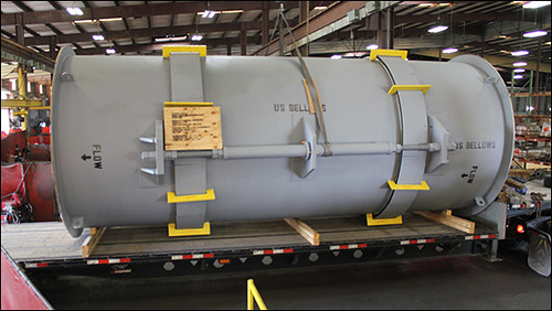 Custom 22' Long Universal Expansion Joint for a Combined Cycle Power Plant in Texas