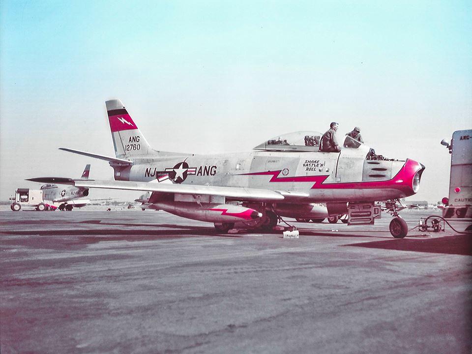 NJANG F-86E 51-2750 108th FIW