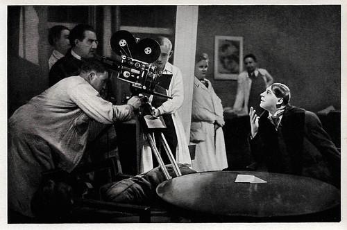 Fritz Lang and Fritz Rasp at the set of Frau im Mond (1929)