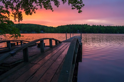 nortonpond lincolnville maine sunset