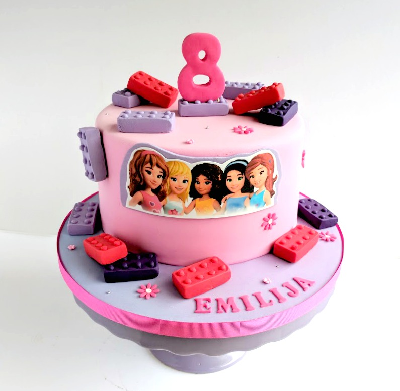 Pleasant Lego Friends Birthday Cake A Photo On Flickriver Personalised Birthday Cards Paralily Jamesorg
