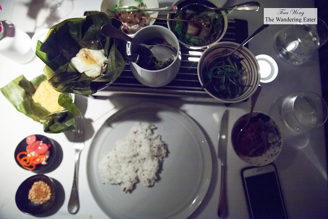 Main course of the chef's tasting menu - Assortment of Southeast Asian dishes