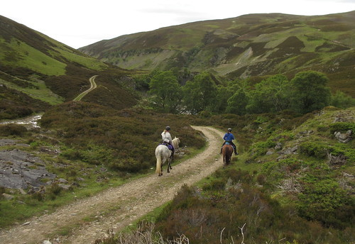 Horse riders in upper Glen Builg | by malky_c