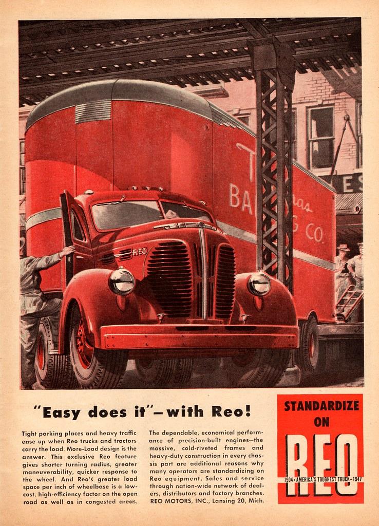 1947 Reo Tractor-Trailer Rig | Alden Jewell | Flickr