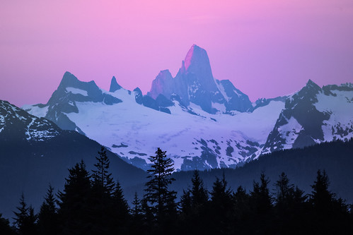 Devils Thumb Alpenglow   by robertdownie