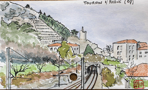 aquarelle watercolor croquis sketch france