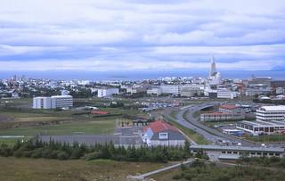 Reykjavik seen from Perlan
