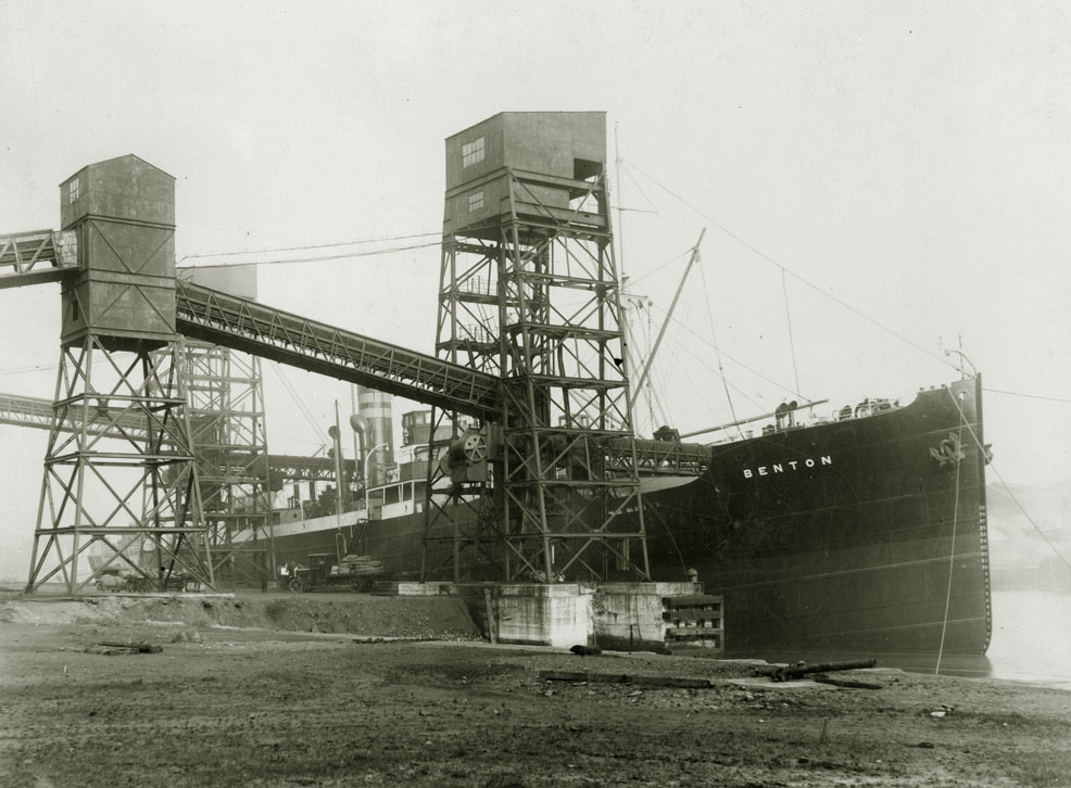 Coal staithes in the South Docks, Sunderland