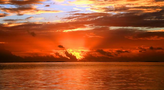 Sunset de feu sur Moorea