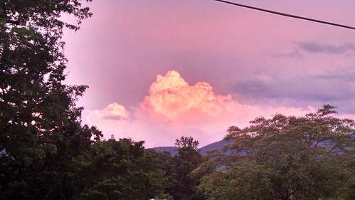 clouds sky burke north carolina south mountains