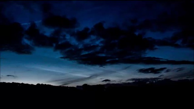 Evening Noctilucent Cloud Timelapse 03/07/17