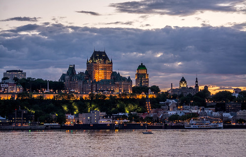 quebeccity quebec canada ca login travel trip north logout send search stock free night light architecture city cityscape view river water ship boat hotel cloud sky heart summer vacation