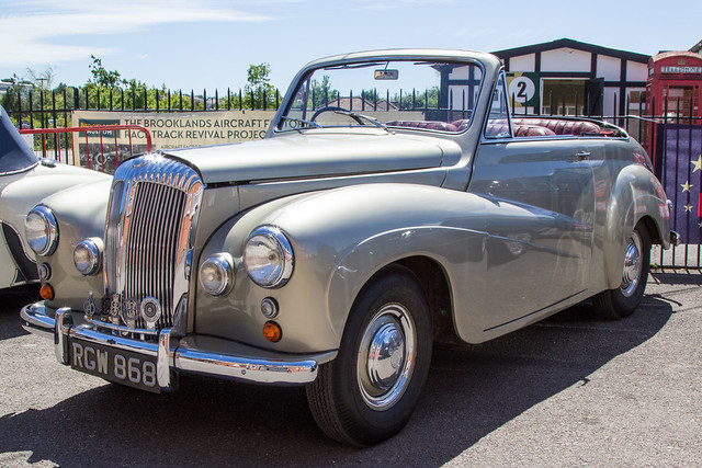 Brooklands: Daimler & Lanchester Owners Club (DLOC) June 2017 - 1955 Daimler DJ252 Conquest DHC (RGW 868)