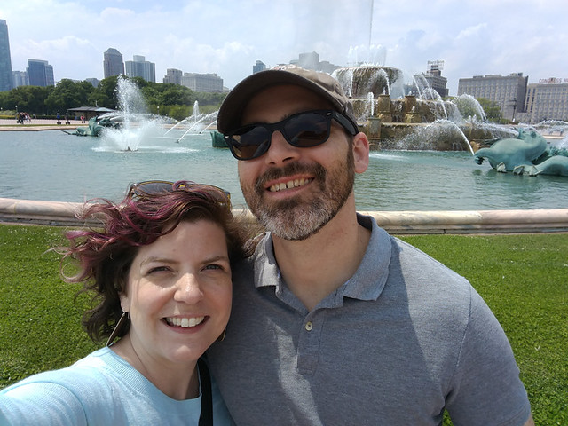 selfie at Buckingham Fountain