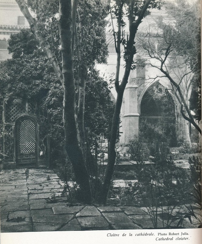 Claustro de la Catedral. Libro de Víctor Crastre. Foto de Robert Julia