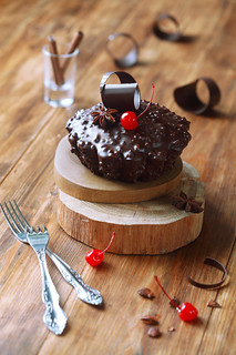 Chocolate Cherry Fruit Cake