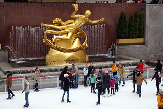 Ice Rink at Rockefeller Center, New York   by mattk1979