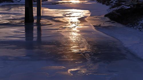 sunrise bridge calgary bowriver alberta canada