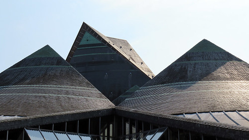 The roof of the main market in Rouen, France